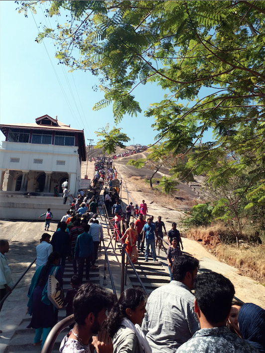 stairs-Bahubali temple, Shravanbelogola.png