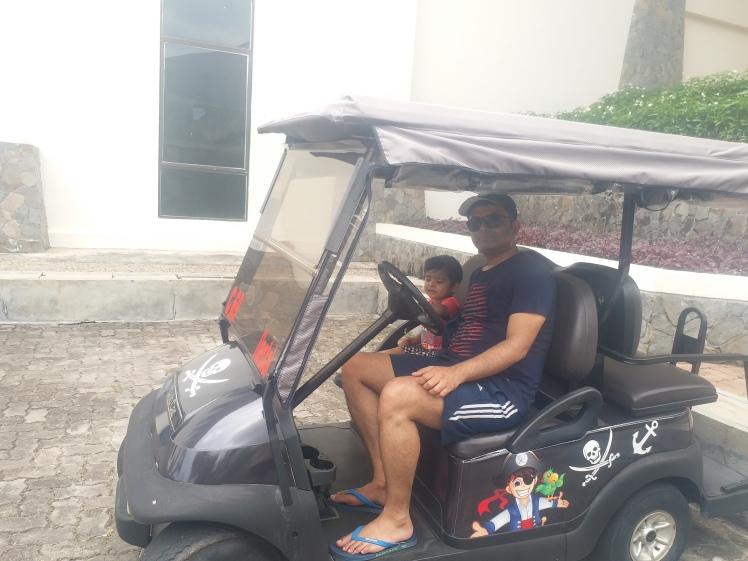 Enjoying the buggy ride, Nirwana gardens.jpg