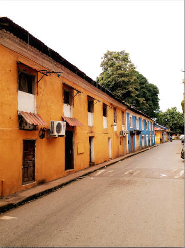 fontainhas goa- colonial houses